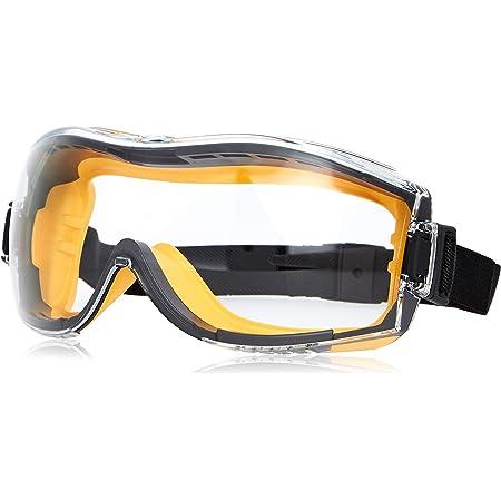 Amazon Basics Safety Goggle - 1QP158A1 Anti-Fog, Clear Lens and Elastic Headband, 1-Count