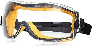 AmazonBasics Safety Goggle - 1QP158A1 Anti-Fog, Clear Lens and Elastic Headband, 1-Count