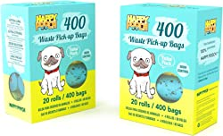 Happy Pooch Waste Pick-Up Bags 400 Count (20 Rolls)