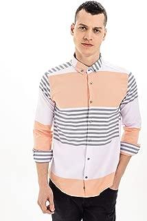 Manche Oranj Pamuk Poly En Çizgi Oxford Gömlek | Me19S111322