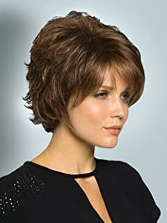 Menoqi Wigs for Women Short Wig Brown Hair Wigs Party Cosplay Wig with Wig Cap WIG022B