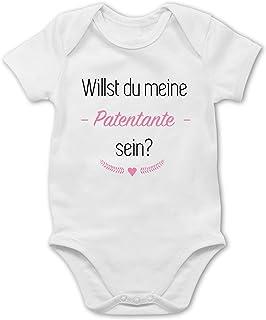 Shirtracer Strampler Motive - Willst du Meine Patentante Sein Herz - Baby Body Kurzarm für Jungen und Mädchen