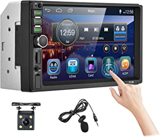 """$69 » Double Din Car Stereo 7"""" HD Touchscreen Bluetooth Car Audio Receiver Support FM Radio/USB/SD/AUX in/Mirror Link/Hands Free..."""