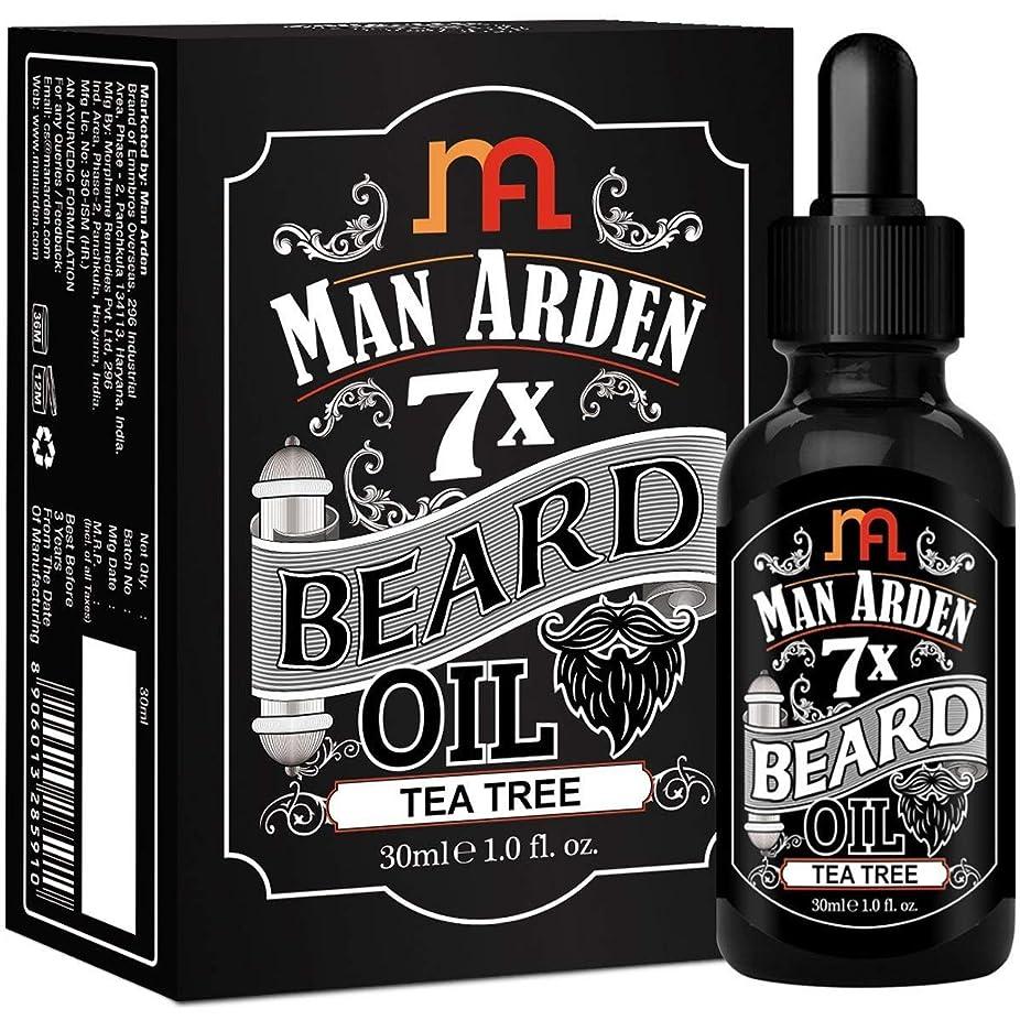 コンデンサー粒ポータブルMan Arden 7X Beard Oil 30ml (Tea Tree) - 7 Premium Oils Blend For Beard Growth & Nourishment
