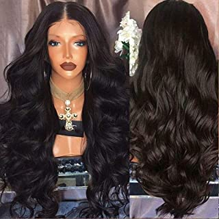 Confidence Full Head Front Lace Human Hair Wig For Women (Dark Brown)