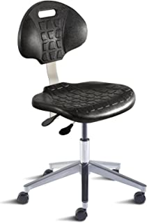 BioFit Engineered Products UUA-L-RC-C UniqueU Series Desk Height Chair with Black Self-Skinned Urethane Seat and Backrest