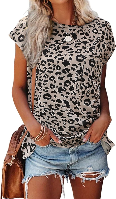 LOLLO VITA Women' shop Shirts Max 64% OFF Cap Sleeve T-Shi Tops Round Neck Summer