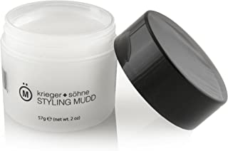 Premium Styling Mudd For Men - K+S Salon Quality Hair Care Products for Dry Scalp - Forming Cream Infused with Moisturizer - Argan and Coconut Oil for Flake Free Non Greasy Medium Hold & Sexy Shine
