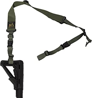 """S2Delta - USA Made Premium 2 Point Rifle Sling, Fast Adjustment, Modular Attachment Connections, Comfortable 2"""" Wide Shoulder Strap"""