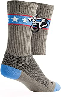SockGuy Crew 6in Wheelie Cycling/Running Socks