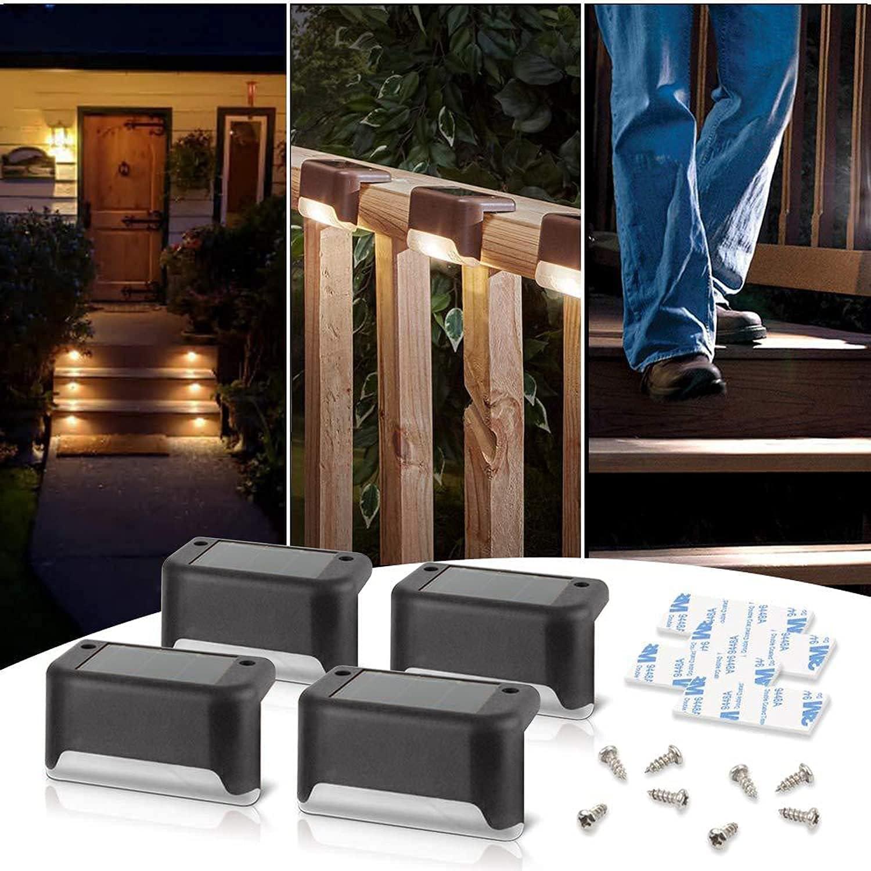 Yayigo Solar Deck Lights 4Pack Post Max 85% OFF LED Fence Oklahoma City Mall Weatherproof Light