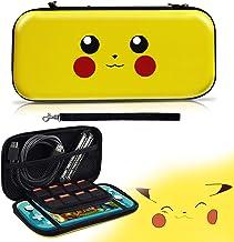 Etui pour Switch Lite, Housse Protection pour Pokemon Switch Lite,[Conception Let's Go Pikachu/Eevee Pouch], Sacoche de Tr...