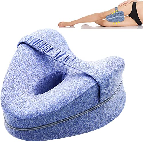 Knee Pillow, TERSELY Orthopedic Memory Foam Wedge for Side Sleepers,Leg Positioner Pillows Leg Pillow for Back, Hip, ...