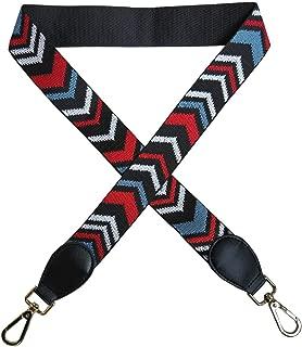 "ZLYY 1.5"" Wide Purse Strap Guitar Style Multicoloured Canvas Cross-Body Strap for Handbags (2#)"