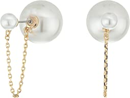 Rebecca Minkoff - Pearl with Chain and Pearl Back Earrings
