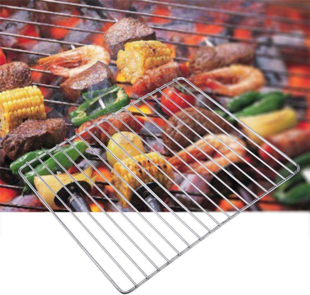 Portable Grill Grill en Acier Inoxydable De Rechange Grille De Gril Grille Barbecue Outil BBQ Accessoires pour Home Park Use (Color : 30x25CM) 30x25CM