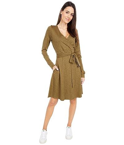 Toad&Co Cue Wrap Long Sleeve Dress (Fir) Women