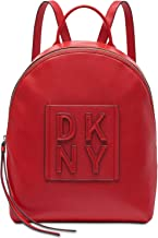 DKNY Tilly Stacked Logo Leather Backpack