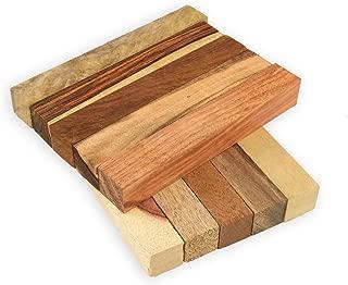 Legacy Woodturning, Exotic Wood Pen Blank 10 Piece Variety Pack, with Highly Figured Cocobolo, Tigerwood Ebony, Monkeypod, Mango, Teak, Granadillo