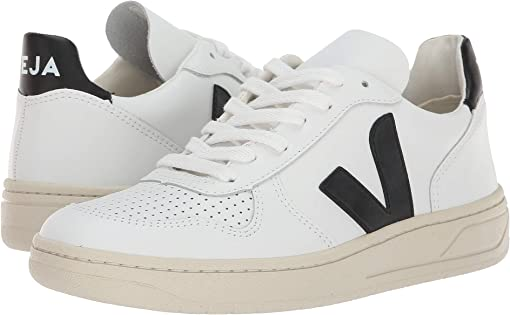 Extra-White Black Leather