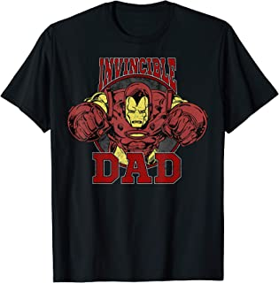 Marvel Iron Man Father's Day Invincible Dad Camiseta