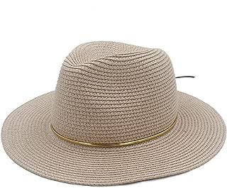 HaiNing Zheng Panama Sun Hat For Elegant Lady Queen Floppy Wide Brim Bobo Beach Fedora Cap