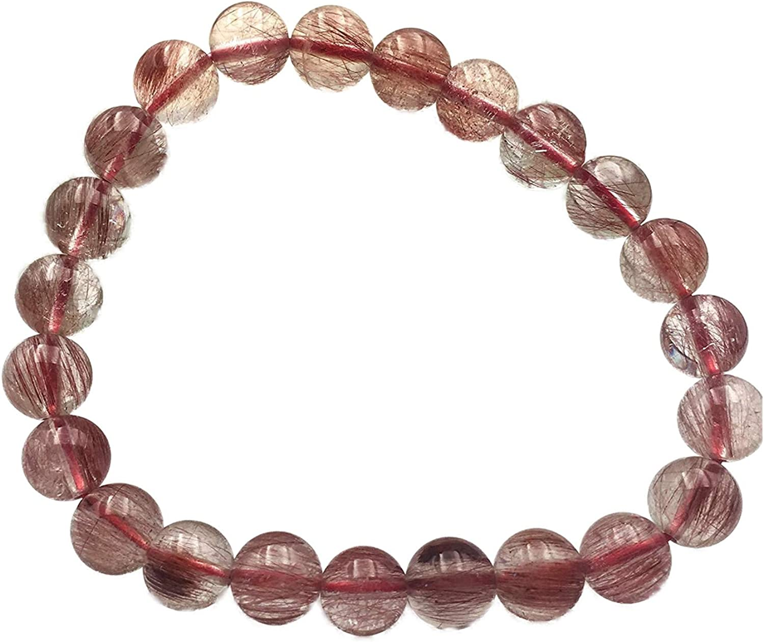 Natural Red Rutilated Quartz Crystal Brazil New Quantity limited mail order Beads Women Round Br