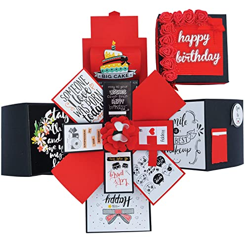 DecuT 3 Layered Romantic Handmade Explosion Box For Anniversary Love Gift Birthday