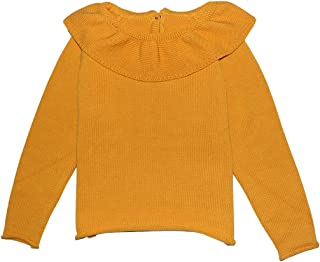 Wennikids Little Girls Ruffle Collar Crimping Pullover Sweater Shirt