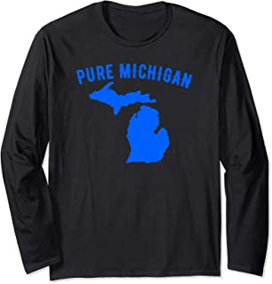 Pure Michigan Vacation Water Lake Fun Gift Idea Long Sleeve T-Shirt