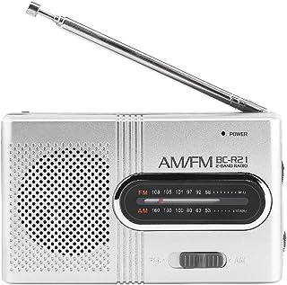 Bewinner AM / FM Radio Portátil, Receptor Altavoces Estéreo,Reproductor de Música Radio Personal con Antena Telescópica Mini Receptor de Radio de Bolsillo para Exteriores