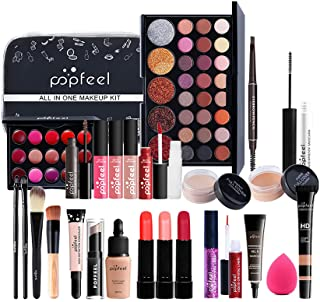 Professional Makeup Set,MKNZOME 30 Pcs Cosmetic Make Up Set With Storage Bag Portable Travel Make-up Palette Birthday Xmas...