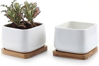 T4U 10CM Keramik Sukkulenten Töpfe Kaktus Pflanze Töpfe kl