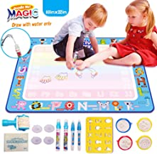 AVstart Drawing Mat Large, 40 x 32 Inch Water Doodle Mat, Kids Magic Doodle Board, Painting Writing Pad, Educational Toys Gifts for 2 3 4 5 6 7 8 Years Old Girls Boys, Kids Toys
