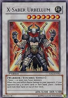 Yu-Gi-Oh! - X-Saber Urbellum (5DS2-EN043) - 5Ds Starter Deck 2009 - 1st Edition - Super Rare