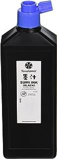 Yasutomo Permanent Liquid Sumi Ink, 12 Ounces, Black