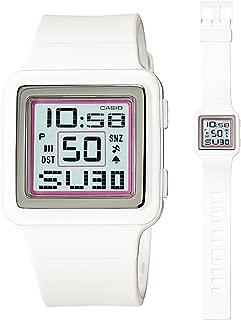 Casio Digital Poptone White Resin Grey Dial Women's watch #LDF20-7AV