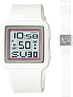 Casio Digital Poptone White Resin Grey Dial Women's watch #LDF20-7AV
