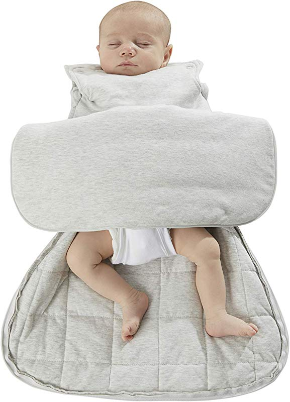 Gunapod Newborn Swaddle Sack 5 Way Swaddling Blanket Luxury Rayon Bamboo Sleeping Bag With WONDERZiP