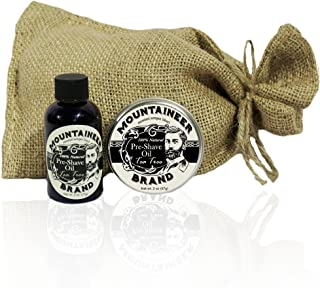 Pre-Shave Oil & Post -Shave Balm Combo by Mountaineer Brand: Soften before and Soothe after shaving (Tea Tree)