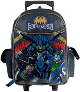 Large Rolling Backpack - DC Comic Batman Batmobile New School Bag 497972