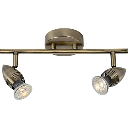 Lucide CARO-LED - Spot Plafond - LED - GU10 - 2x5W 2700K - Bronze 03
