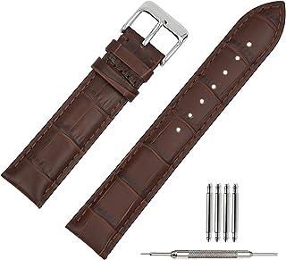 20mm Cinturino Per Orologio Da Polso Uomo Donna Di Pelle Cachi Cinturini Da Ricambio Nero 18mm 19mm 20mm 21mm 22mm
