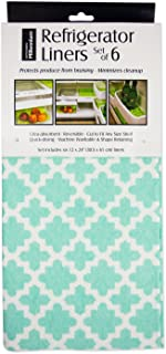 DII Non Adhesive Cut to Fit Machine Washable Fridge Liner For Drawers, Bins, Trays, Protect Produce, Set of 6, 12 x 24