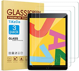 TiKeDa [3 Pack] Screen Protector for iPad 10.2 inch 2019,Tempered Glass Screen Protector for iPad 7th Generation - Apple Pencil Compatible