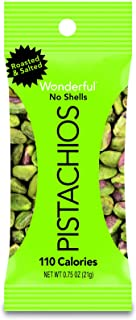 Wonderful Roasted and Salted Pistachio without Shell, 0.75 Ounce -- 96 per case.