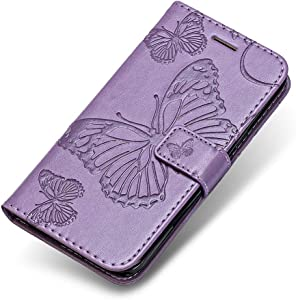 Galaxy Plus Case  The Grafu  Wallet Bookstyle Leather Shockproof Stand Case with Card Slots and Magnetic Closure for Samsung Galaxy Plus  Purple