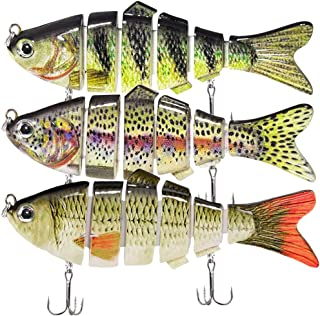 Fishing Lures for Bass Trout 3.9-inch Multi Jointed...