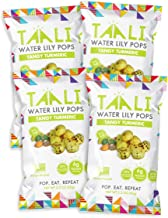 Taali Tangy Turmeric Water Lily Pops (4-Pack) - Taste with Benefits | Protein-Rich Roasted Snack | Non GMO Verified | 2.3 oz Multi-Serve Bags