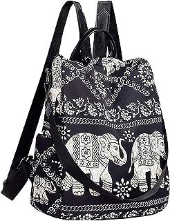 Clara Camouflage Damen Mini Rucksack Nylon Freizeit Daypack Bedruckte Schultertasche Handtasche Geldbörse
